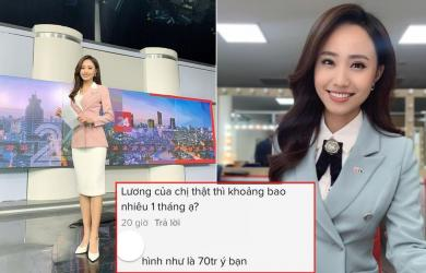 BTV Xuân Anh lên tiếng trước đồn làm việc ở VTV với mức lương 70 triệu/tháng